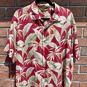 Tommy Bahama Silk Hawaiian Camp Shirt Large